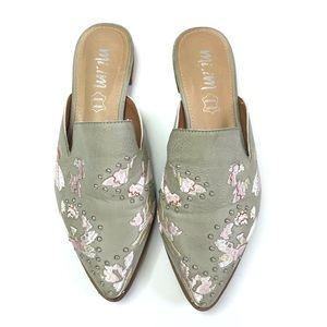 Mi.im The Miranda slip on embroidered mules